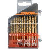 Набор сверл по металлу STHOR HSS-TiN 1.5-6.5 мм 13 шт